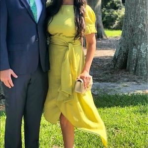 Beautiful and Elegant lime green dress